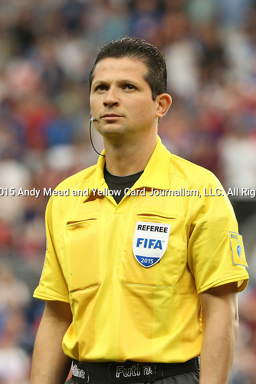 13 July 2015: Fourth Official Henry Bejarano (CRC). The United States Men's National Team played the Panama Men's National Team at Sporting Park in Kansas City, Kansas in a 2015 CONCACAF Gold Cup Group A match.