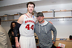 Wisconsin Badgers Frank Kaminsky (44) poses with Green Bay Packers quarterback Aaron Rodgers after  a regional semifinal NCAA college basketball tournament game against the Baylor Bears Thursday, March 27, 2014 in Anaheim, California. The Badgers won 69-52. (Photo by David Stluka)