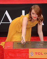 Emma Stone and Ryan Gosling Hand and Foot Print Ceremony