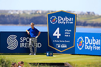 Jimmy Nesbitt (AM) on the 4th tee during the Pro-Am of the Irish Open at LaHinch Golf Club, LaHinch, Co. Clare on Wednesday 3rd July 2019.<br /> Picture:  Thos Caffrey / Golffile<br /> <br /> All photos usage must carry mandatory copyright credit (© Golffile | Thos Caffrey)