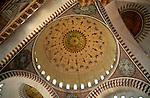 Turkey, Istanbul. Suleymaniye Imperial Mosque, interior