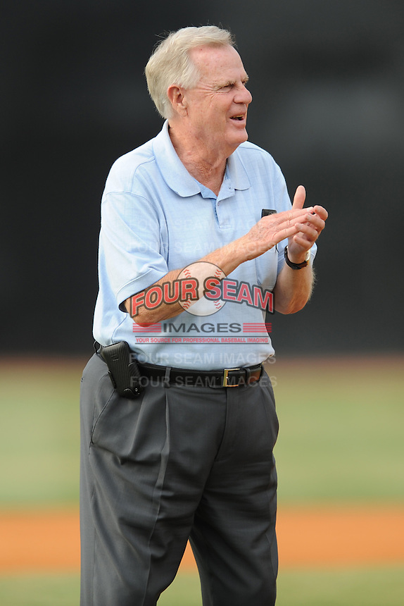 Appalachian League President Lee Landers before the first game of the 2011 Championship Series between the Bluefield Blue Jays and the Johnson City Cardinals at Howard Johnson Field on September 3, 2011 in Johnson City, Tennessee.  The Cardinals won the game 4-3.  (Tony Farlow/Four Seam Images)