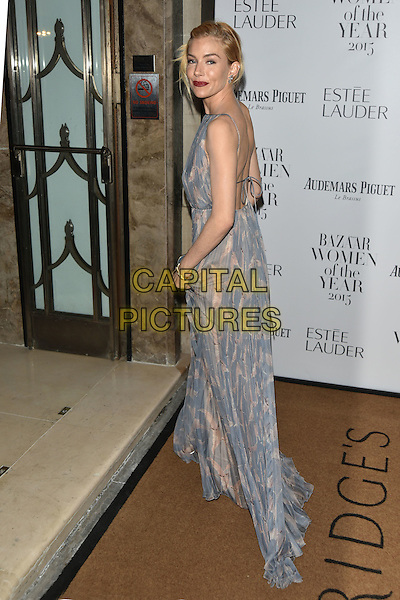 Sienna Miller<br /> Harper's Bazaar Women of the Year 2015 awards,  Claridges Hotel n London, November 03, 2015.<br /> CAP/PL<br /> &copy;Phil Loftus/Capital Pictures