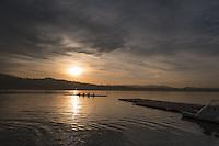 Varese. Lombardia. ITALY. General View. Varese Rowing Club. [Canottieri Varese] Province of Varese.  Sunset <br /> <br /> Monday  02/01/2017<br /> <br /> [Mandatory Credit; Peter Spurrier/Intersport-images]<br /> <br /> <br /> LEICA CAMERA AG - LEICA Q (Typ 116) - 1/5000 - f4