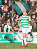 4th November 2017, McDiarmid Park, Perth, Scotland; Scottish Premiership football, St Johnstone versus Celtic; Scott Brown gives thumbs up