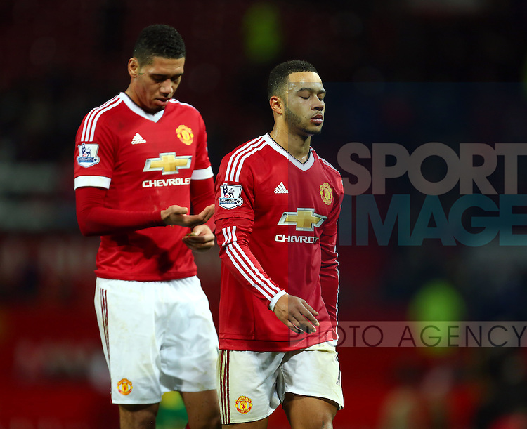 Memphis Depay of Manchester United dejected - Manchester United vs Norwich City - Barclays Premier League - Old Trafford - Manchester - 19/12/2015 Pic Philip Oldham/SportImage