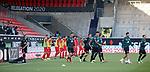 Spieler betreten das Spielfeld zum Aufwärmen<br /> <br /> Deutschland, Heidenheim, 06.07.2020, Fussball, Bundesliga, Saison 2019/2020, Relegation, 1. FC Heidenheim - SV Werder Bremen :nphgm001: 06.07.2020<br /> <br /> DFL/DFB REGULATIONS PROHIBIT ANY USE OF PHOTOGRAPHS AS IMAGE AND/OR QUASI-VIDEO<br /> <br /> Foto: Pressefoto Rudel/Robin Rudel/Pool/gumzmedia/nordphoto
