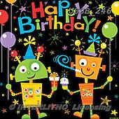 Sarah, CHILDREN BOOKS, BIRTHDAY, GEBURTSTAG, CUMPLEAÑOS, paintings+++++Robots-11-A,USSB246,#BI# ,space,happy robots,spacecrafts ,everyday ,everyday