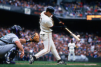 SAN FRANCISCO, CA - Jeff Kent of the San Francisco Giants bats against the Arizona Diamondbacks at Pacific Bell Park in San Francisco, California on April 15, 2000. (Photo by Brad Mangin)