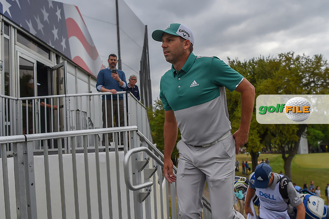 Sergio Garcia (ESP) makes his way to the tee on 7 during day 4 of the WGC Dell Match Play, at the Austin Country Club, Austin, Texas, USA. 3/30/2019.<br /> Picture: Golffile | Ken Murray<br /> <br /> <br /> All photo usage must carry mandatory copyright credit (© Golffile | Ken Murray)