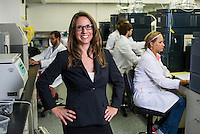 Owner and founder of Cannlabs Genifer Murray (cq) in her lab in Denver, Colorado, Monday, July 21, 2014. <br /> <br /> Photo by Matt Nager