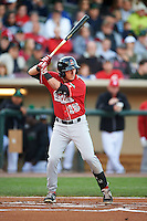 Great Lakes Loons designated hitter Jimmy Allen (15) at bat during a game against the Dayton Dragons on May 21, 2015 at Fifth Third Field in Dayton, Ohio.  Great Lakes defeated Dayton 4-3.  (Mike Janes/Four Seam Images)