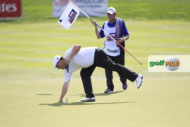 Chris Doak (SCO) on the 7th green during Round 1 of the D+D Real Czech Masters at the Albatross Golf Resort on Thursday 27th August 2015.<br /> Picture:  Thos Caffrey / www.golffile.ie