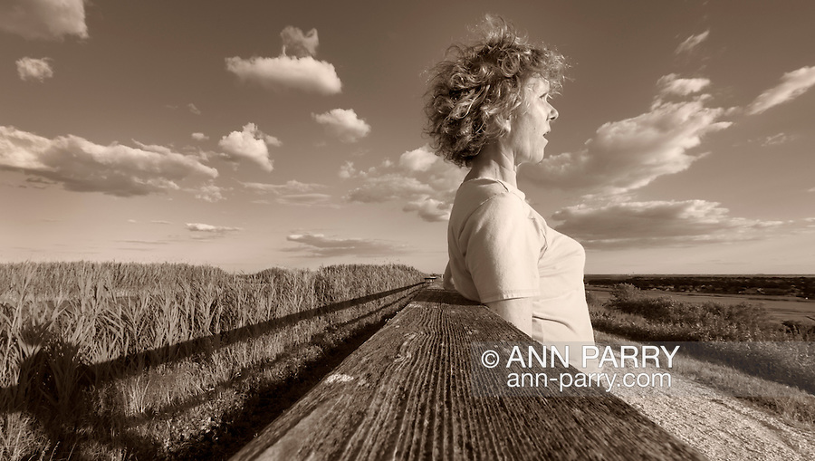 Ann Parry self-portrait, Levy Park & Preserve, Merrick, New York, USA, sepia