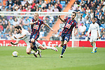 Real Madrid's Isco Alarcon and Sociedad Deportiva Eibar's Keko Gontan and Gonzalo Escalante during La Liga match. April 09, 2016. (ALTERPHOTOS/Borja B.Hojas)