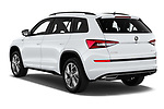 Car pictures of rear three quarter view of 2019 Skoda Kodiaq Sportline 5 Door SUV Angular Rear