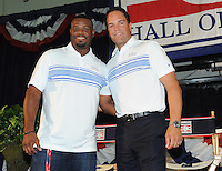 NEW YORK, NY - July 23:  Ken Griffey Jr. and Mike Piaza attend a pre-induction press conference on July 23, 2016 in Cooperstown, New York.  Photo Credit:John Palmer/ MediaPunch.