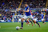 1st February 2020; St Andrews, Birmingham, Midlands, England; English Championship Football, Birmingham City versus Nottingham Forest; Lukas Jutkiewicz of Birmingham City goes on a strong run to cross the ball