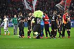 10.03.2018, BayArena, Leverkusen , GER, 1.FBL., Bayer 04 Leverkusen vs. Borussia Moenchengladbach<br /> im Bild / picture shows: <br /> freuen sich nach Ende des Spiels die Leverkusener <br /> <br /> <br /> Foto &copy; nordphoto / Meuter