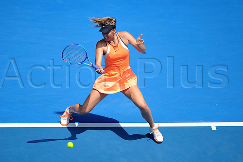 26.01.2016. Melbourne Park, Melbourne, Australia. Australian Open Tennis Championships. Maria Sharapova during her quarterfinal loss to Serena Williams