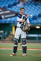 Max Soliz (26) of Bob Jones High School in Madison, AL during the Perfect Game National Showcase at Hoover Metropolitan Stadium on June 20, 2020 in Hoover, Alabama. (Mike Janes/Four Seam Images)
