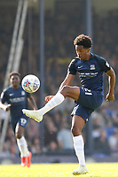 Shayon Harrison of Southend United in action during the Sky Bet League 1 match between Southend United and MK Dons at Roots Hall, Southend, England on 21 April 2018. Photo by Carlton Myrie.