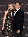 LOS ANGELES, CA - NOVEMBER 04: Chairman and Chief Executive Officer of The Walt Disney Company Bob Iger (R) and LACMA Trustee Willow Bay attend the 2017 LACMA Art + Film Gala Honoring Mark Bradford and George Lucas presented by Gucci at LACMA on November 4, 2017 in Los Angeles, California.
