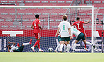 1:0 Tor v.l. Theodor Gebre Selassie, Jeremiah St. Juste, Yuya Osako, Milos Veljkovic (Bremen), Torschuetze Robin Quaison (Mainz)<br />Mainz, 20.06.2020, Fussball Bundesliga, 1. FSV Mainz 05 - SV Werder Bremen