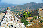 Ruins of Palamidi fortress wall in Nafplion Greece Europe