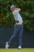 Cameron Smith (USA) watches his tee shot on 9 during 4th round of the 100th PGA Championship at Bellerive Country Club, St. Louis, Missouri. 8/12/2018.<br /> Picture: Golffile   Ken Murray<br /> <br /> All photo usage must carry mandatory copyright credit (© Golffile   Ken Murray)