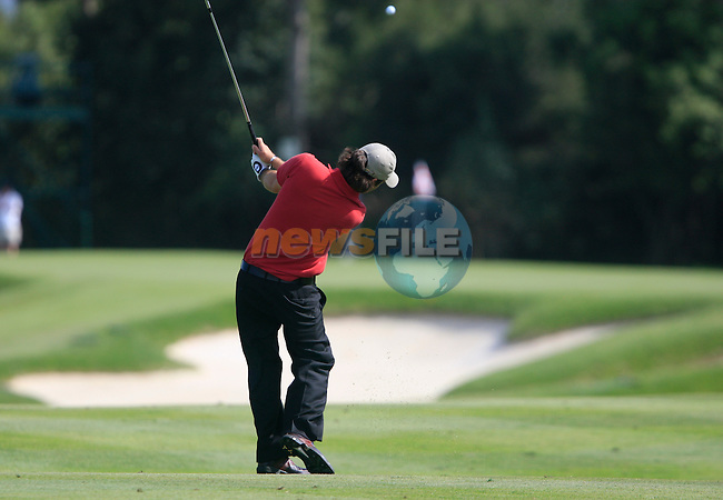 Thomas Aiken (RSA) in action on the 4th hole during Day 2 of the Open de Espana at Real Club De Golf El Prat, Terrasa, Barcelona, 6th May 2011. (Photo Eoin Clarke/Golffile 2011)