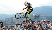 MEDELLIN- COLOMBIA -29-05-2016: Mariana Pajon (COL), gano la prueba elite, en el marco del Campeonato Mundial de BMX 2016 que se realiza entre el 25 y el 29 de mayo de 2016 en la ciudad de Medellín. / Mariana Pajon (COL) won the Elite test, as part of the 2016 BMX World Championships to be held between 25 and 29 May 2016 in the city of Medellin. Photo: VizzorImage / Cristian Alvarez / Cont.