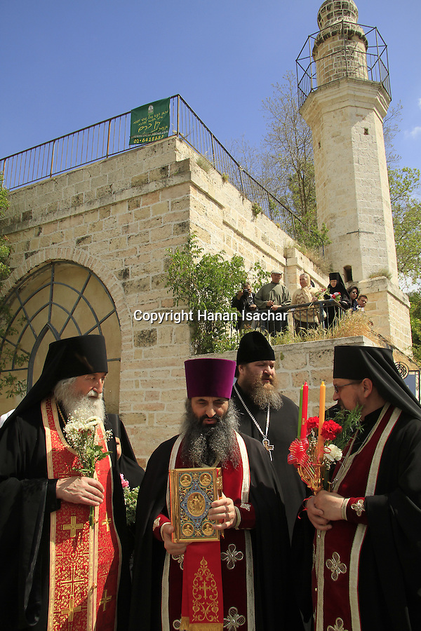 Israel, Ein Karem, the Russian Orthodox Visitation Day ceremony by Mary's Spring