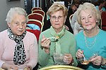Anne McDonnell, Eileen Byrne and Peggie Hopkins at the Cooking For One demonstation for Positive Aging Week in the dHotel...Picture Jenny Matthews/Newsfile.ie