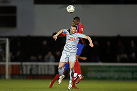 Michael Woods of Hartlepool United and Andre Boucaud of Dagenham during Dagenham & Redbridge vs Hartlepool United, Vanarama National League Football at the Chigwell Construction Stadium on 6th January 2018