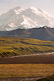 USA, Alaska, Mount Denali and the Muldrow Glacier, Denali National Park