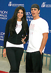 LOS ANGELES, CA. - May 09: Hope Dworaczyk and Darren Brooks arrive at the 16th Annual EIF Revlon Run/Walk For Women at the Los Angeles Memorial Coliseum on May 9, 2009 in Los Angeles, California.