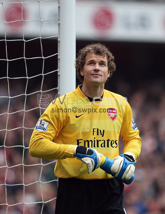 PICTURE BY JEREMY RATA/SWPIX.COM - Barclays Premier League Football - Arsenal v Reading - Emirates Stadium, London, England - 19/04/08. Arsenals Jens Lehmann ..Copyright - Simon Wilkinson - 07811267706..
