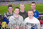 OUTCOME: Cormac Reidy, Adrian Locke, Luke Geary, John Joe OSullivan and Kieran Murphy wait anxiously for the outcome of the All Ireland Colleges Final in Croke Park on Sunday..