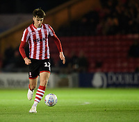 Lincoln City's Ellis Chapman<br /> <br /> Photographer Chris Vaughan/CameraSport<br /> <br /> The EFL Checkatrade Trophy Northern Group H - Lincoln City v Wolverhampton Wanderers U21 - Tuesday 6th November 2018 - Sincil Bank - Lincoln<br />  <br /> World Copyright © 2018 CameraSport. All rights reserved. 43 Linden Ave. Countesthorpe. Leicester. England. LE8 5PG - Tel: +44 (0) 116 277 4147 - admin@camerasport.com - www.camerasport.com