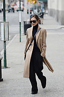 www.acepixs.com<br /> February 10, 2018 New York City<br /> <br /> Victoria Beckham was seen in New York City on February 10, 2018.<br /> Credit: Kristin Callahan/ACE Pictures<br /> <br /> Tel: 646 769 0430<br /> Email: info@acepixs.com