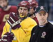 Peter Harrold, Mike Cavanaugh - The Boston College Eagles took their morning skate on Saturday, April 8, 2006, at the Bradley Center in Milwaukee, Wisconsin to prepare for the 2006 Frozen Four Final game versus the University of Wisconsin.