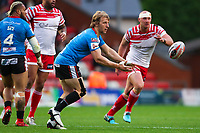 Picture by Alex Whitehead/SWpix.com - 11/05/2018 - Rugby League - Ladbrokes Challenge Cup - Leigh Centurions v Salford Red Devils - Leigh Sports Village, Leigh, England - Salford's Logan Tomkins in action.
