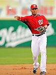 10 March 2011: Washington Nationals' pitcher Ian Desmond in action during a Spring Training game against the New York Mets at Space Coast Stadium in Viera, Florida. The Nationals edged out the Mets 6-5 in Grapefruit League play. Mandatory Credit: Ed Wolfstein Photo