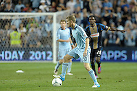 Sporting KC midfielder Oriol Rosell (20) ina ction..Sporting Kansas City defeated Philadelphia Union 2-1 at LIVESTRONG Sporting Park, Kansas City, KS.