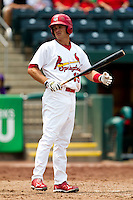 Eric Duncan (15) of the Springfield Cardinals prepares to bat during a game against the Tulsa Drillers at Hammons Field on June 27, 2011 in Springfield, Missouri. (David Welker / Four Seam Images)