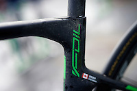 Christian Meier's  (CAN/Orica-GreenEDGE) dirty Scott Foil after finishing a very wet (and snowy) 102nd Liège-Bastogne-Liège 2016