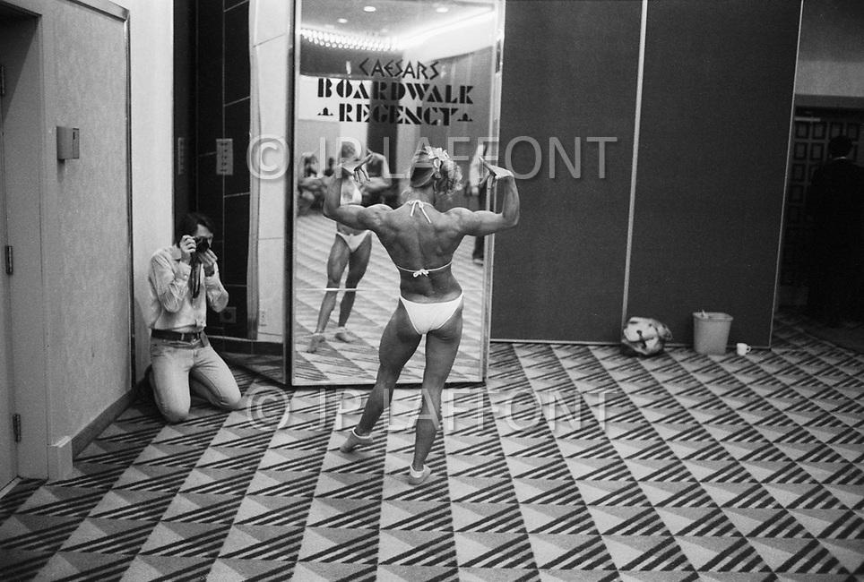 April 24th 1981, Atlantic City, NJ, USA<br /> Iyleana Vajakas, Women's World Bodybuilding Championships.