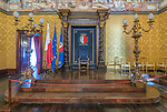Europe, Malta, Valletta, Grand Master's Palace Throne Room