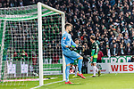 10.02.2019, Weserstadion, Bremen, GER, 1.FBL, Werder Bremen vs FC Augsburg<br /> <br /> DFL REGULATIONS PROHIBIT ANY USE OF PHOTOGRAPHS AS IMAGE SEQUENCES AND/OR QUASI-VIDEO.<br /> <br /> im Bild / picture shows<br /> Gregor Kobel (FC Augsburg #40) bedient nach 4:0, im Hintergrund bejubelt Torschütze Kevin Möhwald / Moehwald (Werder Bremen #06) seinen Treffer zum 4:0, <br /> <br /> Foto © nordphoto / Ewert